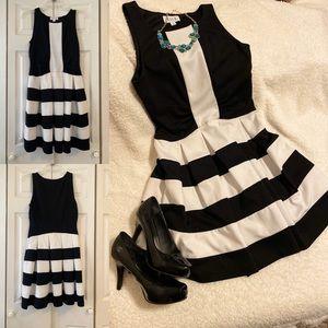 Elle Black and White Dress Size 4